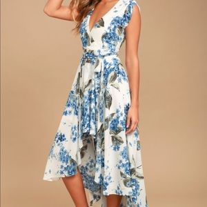 NWT Lulu's French Countryside Floral Print Dress